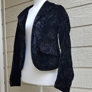 Old Navy Embroidered velvet jacket size XS